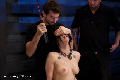 Photo number 6 from Training Asphyxia-Live December Shoot<br>atom's Final Test shot for The Training Of O on Kink.com. Featuring Asphyxia Noir and James Deen in hardcore BDSM & Fetish porn.