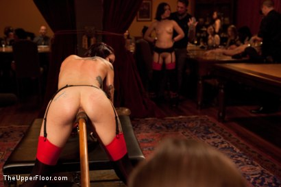 Photo number 14 from Thanksgiving: Part One shot for The Upper Floor on Kink.com. Featuring Skin Diamond, Juliette March, Krysta Kaos and Iona Grace in hardcore BDSM & Fetish porn.