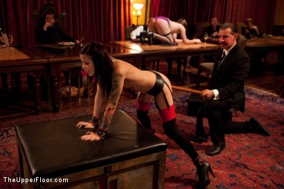 Photo number 15 from Thanksgiving: Part One shot for The Upper Floor on Kink.com. Featuring Skin Diamond, Juliette March, Krysta Kaos and Iona Grace in hardcore BDSM & Fetish porn.
