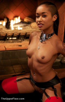 Photo number 24 from Thanksgiving: Part One shot for The Upper Floor on Kink.com. Featuring Skin Diamond, Juliette March, Krysta Kaos and Iona Grace in hardcore BDSM & Fetish porn.