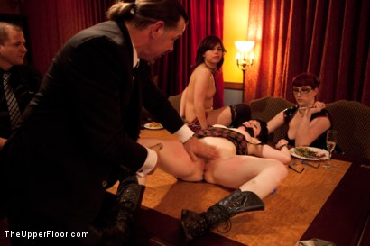 Photo number 5 from Thanksgiving: Part One shot for The Upper Floor on Kink.com. Featuring Skin Diamond, Juliette March, Krysta Kaos and Iona Grace in hardcore BDSM & Fetish porn.