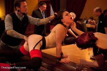 Photo number 8 from Thanksgiving: Part One shot for The Upper Floor on Kink.com. Featuring Skin Diamond, Juliette March, Krysta Kaos and Iona Grace in hardcore BDSM & Fetish porn.