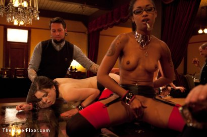 Photo number 10 from Thanksgiving: Part One shot for The Upper Floor on Kink.com. Featuring Skin Diamond, Juliette March, Krysta Kaos and Iona Grace in hardcore BDSM & Fetish porn.