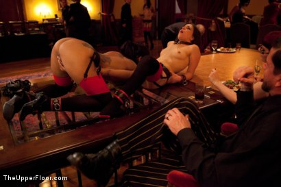 Photo number 12 from Thanksgiving: Part One shot for The Upper Floor on Kink.com. Featuring Skin Diamond, Juliette March, Krysta Kaos and Iona Grace in hardcore BDSM & Fetish porn.