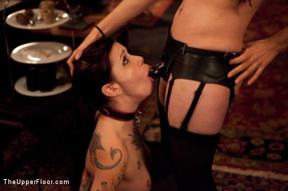 Photo number 14 from Thanksgiving: Part Two shot for The Upper Floor on Kink.com. Featuring Skin Diamond, Juliette March, Krysta Kaos and Iona Grace in hardcore BDSM & Fetish porn.