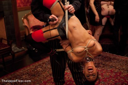 Photo number 10 from Thanksgiving: Part Two shot for The Upper Floor on Kink.com. Featuring Skin Diamond, Juliette March, Krysta Kaos and Iona Grace in hardcore BDSM & Fetish porn.