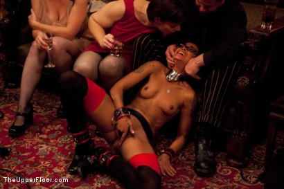Photo number 2 from Thanksgiving: Part Two shot for The Upper Floor on Kink.com. Featuring Skin Diamond, Juliette March, Krysta Kaos and Iona Grace in hardcore BDSM & Fetish porn.