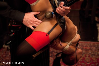 Photo number 11 from Thanksgiving: Part Two shot for The Upper Floor on Kink.com. Featuring Skin Diamond, Juliette March, Krysta Kaos and Iona Grace in hardcore BDSM & Fetish porn.