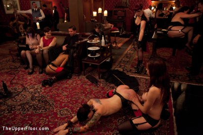 Photo number 13 from Thanksgiving: Part Two shot for The Upper Floor on Kink.com. Featuring Skin Diamond, Juliette March, Krysta Kaos and Iona Grace in hardcore BDSM & Fetish porn.