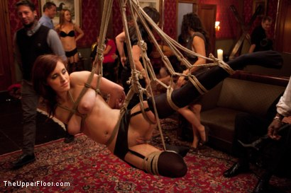 Photo number 9 from Thanksgiving: Part Two shot for The Upper Floor on Kink.com. Featuring Skin Diamond, Juliette March, Krysta Kaos and Iona Grace in hardcore BDSM & Fetish porn.