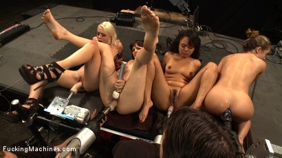 Photo number 1 from Hall of FuckingMachines.com Babes: Kristina Rose, Lorelei Lee, Bobbi Starr, Annie Cruz in the Finale shot for Fucking Machines on Kink.com. Featuring Kristina Rose, Annie Cruz, Bobbi Starr and Lorelei Lee in hardcore BDSM & Fetish porn.