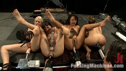 Hall of FuckingMachines.com Babes: Kristina Rose, Lorelei Lee, Bobbi Starr, Annie Cruz in the Finale