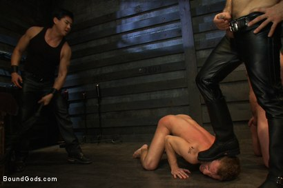 Photo number 8 from Please let me take his pain, Sir shot for Bound Gods on Kink.com. Featuring Van Darkholme, Master Avery, Sebastian Keys and Kieron Ryan in hardcore BDSM & Fetish porn.