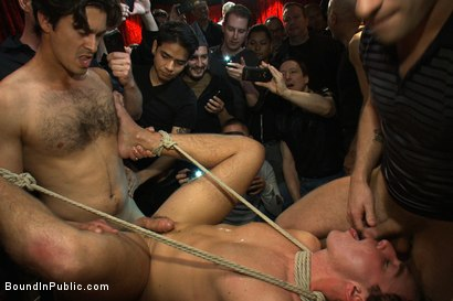 Photo number 11 from Horny men attack a hot pole dancer at a local strip joint shot for Bound in Public on Kink.com. Featuring Mike Martin and Jacob Durham in hardcore BDSM & Fetish porn.