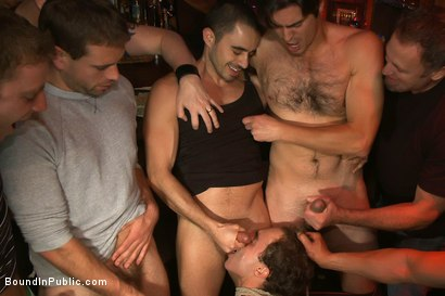 Photo number 3 from Horny men attack a hot pole dancer at a local strip joint shot for Bound in Public on Kink.com. Featuring Mike Martin and Jacob Durham in hardcore BDSM & Fetish porn.
