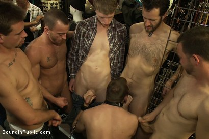 Photo number 10 from 19 year old stud with a giant cock gets used and humiliated in public shot for Bound in Public on Kink.com. Featuring Steve Vex and     Cody Allen in hardcore BDSM & Fetish porn.