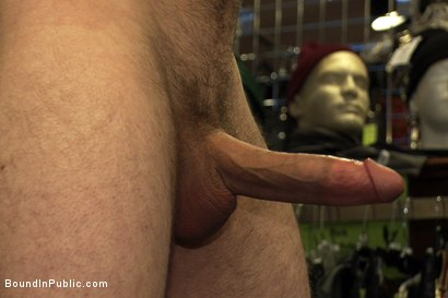 Photo number 3 from 19 year old stud with a giant cock gets used and humiliated in public shot for Bound in Public on Kink.com. Featuring Steve Vex and Cody Allen in hardcore BDSM & Fetish porn.