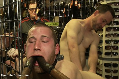 Photo number 9 from 19 year old stud with a giant cock gets used and humiliated in public shot for Bound in Public on Kink.com. Featuring Steve Vex and Cody Allen in hardcore BDSM & Fetish porn.