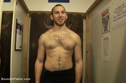 Photo number 15 from 19 year old stud with a giant cock gets used and humiliated in public shot for Bound in Public on Kink.com. Featuring Steve Vex and Cody Allen in hardcore BDSM & Fetish porn.