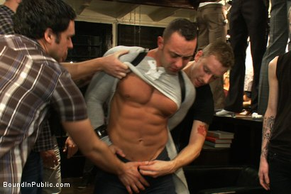 Photo number 1 from Ripped Muscle, Fat Cock, Round Ass, Humiliated in Public shot for Bound in Public on Kink.com. Featuring Christian Wilde and Fabio Stallone in hardcore BDSM & Fetish porn.