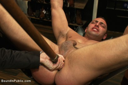 Photo number 5 from Ripped Muscle, Fat Cock, Round Ass, Humiliated in Public shot for Bound in Public on Kink.com. Featuring Christian Wilde and Fabio Stallone in hardcore BDSM & Fetish porn.