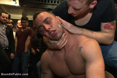 Photo number 12 from Ripped Muscle, Fat Cock, Round Ass, Humiliated in Public shot for Bound in Public on Kink.com. Featuring Christian Wilde and Fabio Stallone in hardcore BDSM & Fetish porn.