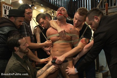 Photo number 3 from Ripped Muscle, Fat Cock, Round Ass, Humiliated in Public shot for Bound in Public on Kink.com. Featuring Christian Wilde and Fabio Stallone in hardcore BDSM & Fetish porn.