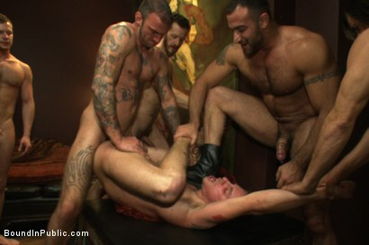 Photo number 10 from The Brutal Annihilation of Sebastian Keys shot for Bound in Public on Kink.com. Featuring Spencer Reed, Sebastian Keys and Ricky Sinz in hardcore BDSM & Fetish porn.