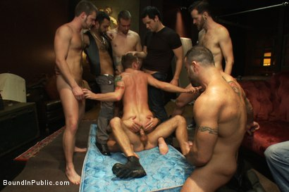 Photo number 12 from The Brutal Annihilation of Sebastian Keys shot for Bound in Public on Kink.com. Featuring Spencer Reed, Sebastian Keys and Ricky Sinz in hardcore BDSM & Fetish porn.