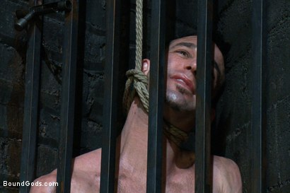 Photo number 1 from The Beast of Burden shot for Bound Gods on Kink.com. Featuring Ricky Sinz and Jason Miller in hardcore BDSM & Fetish porn.