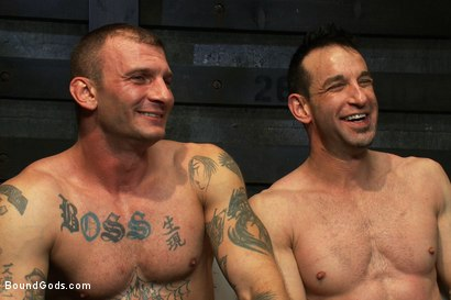Photo number 15 from The Beast of Burden shot for Bound Gods on Kink.com. Featuring Ricky Sinz and Jason Miller in hardcore BDSM & Fetish porn.