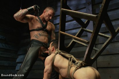 Photo number 9 from The Beast of Burden shot for Bound Gods on Kink.com. Featuring Ricky Sinz and Jason Miller in hardcore BDSM & Fetish porn.