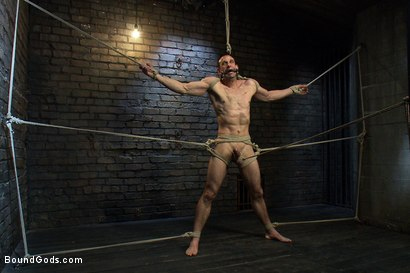 Photo number 4 from The Beast of Burden shot for Bound Gods on Kink.com. Featuring Ricky Sinz and Jason Miller in hardcore BDSM & Fetish porn.
