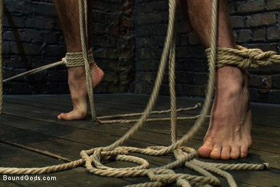 Photo number 5 from The Beast of Burden shot for Bound Gods on Kink.com. Featuring Ricky Sinz and Jason Miller in hardcore BDSM & Fetish porn.