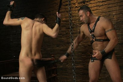 Photo number 8 from 19 year old boy gets his BDSM cherry popped by Spencer Reed shot for Bound Gods on Kink.com. Featuring Max Gunnar and Spencer Reed in hardcore BDSM & Fetish porn.