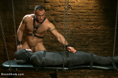 Photo number 12 from 19 year old boy gets his BDSM cherry popped by Spencer Reed shot for Bound Gods on Kink.com. Featuring Max Gunnar and Spencer Reed in hardcore BDSM & Fetish porn.