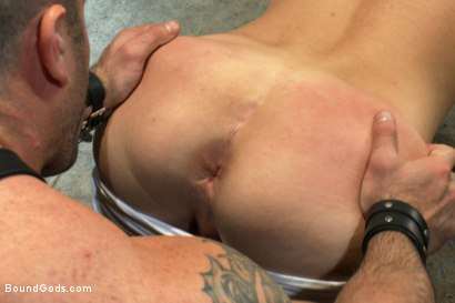Photo number 7 from 19 year old boy gets his BDSM cherry popped by Spencer Reed shot for Bound Gods on Kink.com. Featuring Max Gunnar and Spencer Reed in hardcore BDSM & Fetish porn.