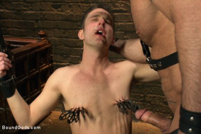 Photo number 3 from 19 year old boy gets his BDSM cherry popped by Spencer Reed shot for Bound Gods on Kink.com. Featuring Max Gunnar and Spencer Reed in hardcore BDSM & Fetish porn.