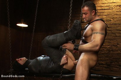 Photo number 11 from 19 year old boy gets his BDSM cherry popped by Spencer Reed shot for Bound Gods on Kink.com. Featuring Max Gunnar and Spencer Reed in hardcore BDSM & Fetish porn.