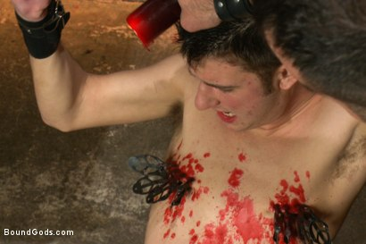 Photo number 4 from 19 year old boy gets his BDSM cherry popped by Spencer Reed shot for Bound Gods on Kink.com. Featuring Max Gunnar and Spencer Reed in hardcore BDSM & Fetish porn.