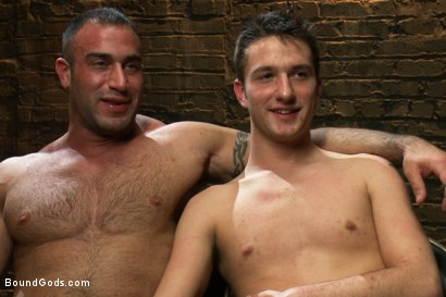 Photo number 15 from 19 year old boy gets his BDSM cherry popped by Spencer Reed shot for Bound Gods on Kink.com. Featuring Max Gunnar and Spencer Reed in hardcore BDSM & Fetish porn.