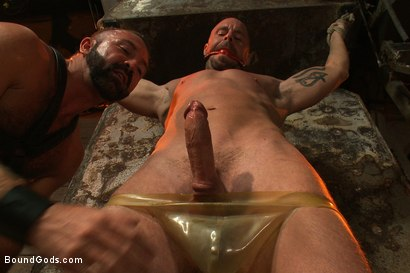 Photo number 2 from Man Sex Dungeon shot for Bound Gods on Kink.com. Featuring Mitch Vaughn and Josh West in hardcore BDSM & Fetish porn.