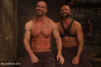 Photo number 15 from Man Sex Dungeon shot for Bound Gods on Kink.com. Featuring Mitch Vaughn and Josh West in hardcore BDSM & Fetish porn.