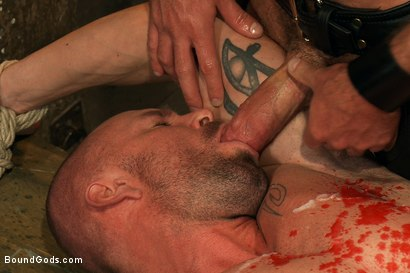 Photo number 14 from Man Sex Dungeon shot for Bound Gods on Kink.com. Featuring Mitch Vaughn and Josh West in hardcore BDSM & Fetish porn.