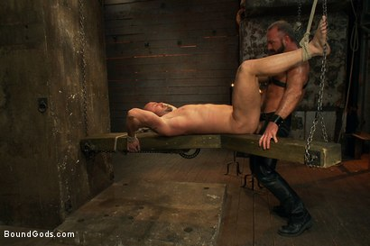 Photo number 12 from Man Sex Dungeon shot for Bound Gods on Kink.com. Featuring Mitch Vaughn and Josh West in hardcore BDSM & Fetish porn.