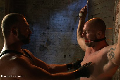 Photo number 1 from Man Sex Dungeon shot for Bound Gods on Kink.com. Featuring Mitch Vaughn and Josh West in hardcore BDSM & Fetish porn.
