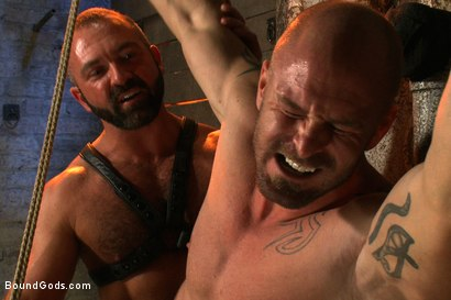 Photo number 3 from Man Sex Dungeon shot for Bound Gods on Kink.com. Featuring Mitch Vaughn and Josh West in hardcore BDSM & Fetish porn.