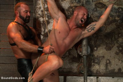 Photo number 4 from Man Sex Dungeon shot for Bound Gods on Kink.com. Featuring Mitch Vaughn and Josh West in hardcore BDSM & Fetish porn.