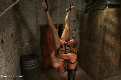 Photo number 6 from Man Sex Dungeon shot for Bound Gods on Kink.com. Featuring Mitch Vaughn and Josh West in hardcore BDSM & Fetish porn.
