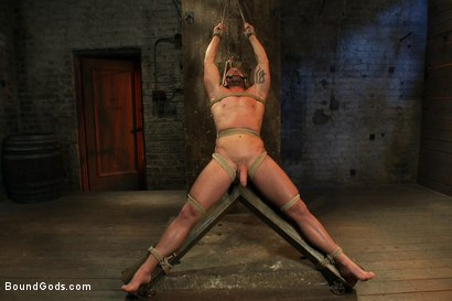 Photo number 9 from Man Sex Dungeon shot for Bound Gods on Kink.com. Featuring Mitch Vaughn and Josh West in hardcore BDSM & Fetish porn.